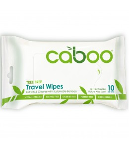 Caboo - Bamboo Travel Wipes / 10 wipes