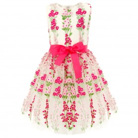 Flowering Embroidered Tulle Dress