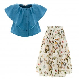 Paade Mode - Top and Skirt Set