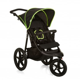 Hauck - Runner Stroller Black-Neon Yellow