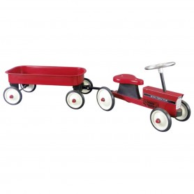 Goki -  Ride-on-tractor with trailer
