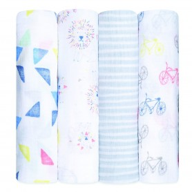 Aden+Anais - Classic 4-Pack Swaddles Leader of the Pack