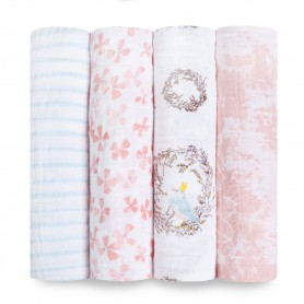 Aden+Anais - Classic 4-Pack Swaddles Birdsong