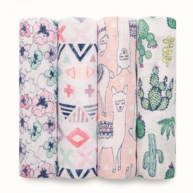 Aden+Anais - Classic 4 Pack Swaddles Trail Blooms