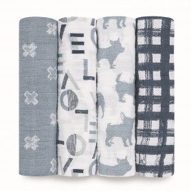 Aden+Anais -Classic 4-Pack Swaddles Waverly