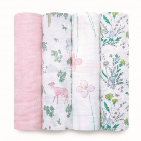 Aden+Anais - Classic 4-Pack Swaddles Forest Fantasy