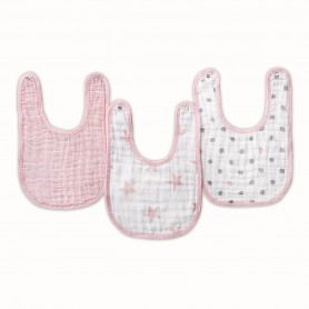 Aden+Anais - 3-Pack Classic Snap Bibs DOLL