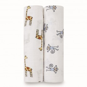 Aden+Anais - Classic 2-Pack Swaddles Jungle Jam