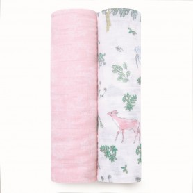 Aden+Anais - Classic 2-Pack Swaddles Forest Fantasy