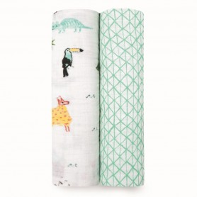 Aden+Anais - Classic 2-Pack Swaddles Around the World