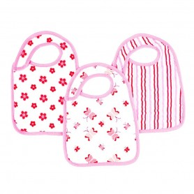 Aden+Anais -Classic 3-Pack Snap Bibs Princess Posie