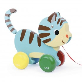Vilac - Marcel The Cat Pull Toy