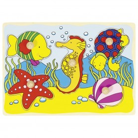 Goki -  Lift out puzzle seahorse shell