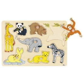 Goki -  Lift out puzzle baby animals