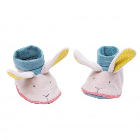 Moulin Roty - Rabbit slippers 0-6M