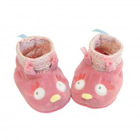 Moulin Roty - Owl slippers 0-6M