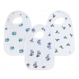 Aden+Anais - Classic 3-Pack Snap Bibs Jungle Jam