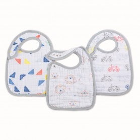Aden+Anais - Classic 3 Pack Snap Bibs Leader of the Pack