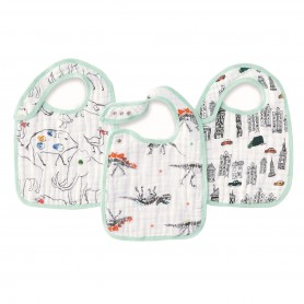 Aden+Anais - Classic 3 Pack Snap Bibs Color Pop