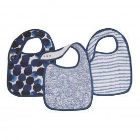 Aden+Anais - Classic 3 Pack Snap Bibs Seafaring