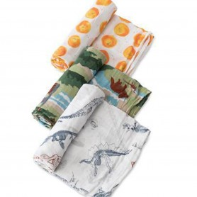 LITTLE UNICORN -  Cotton Muslin Swaddle Set Jurassic World