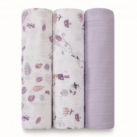 Aden+Anais - Organic 3 Pack Swaddles-Once Upon a Time