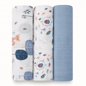 Aden+Anais - Organic 3 Pack Swaddles Into the Woods