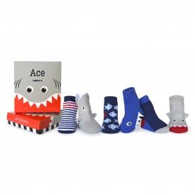 Trumpette - Ace Socks, 0-12 Months, 6 Pack