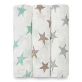 Aden+Anais - Silky Soft 3-Pack Swaddles Milky Way