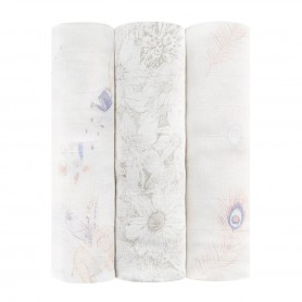 Aden+Anais - Silky Soft 3-Pack Swaddles Featherlight