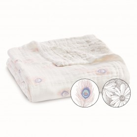 Aden+Anais - Silky Soft Dream Blanket Featherlight Dainty Plume