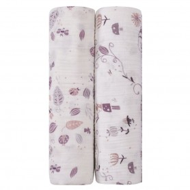 Aden+Anais - Organic 2-Pack Swaddles Once Upon A Time