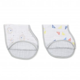 Aden+Anais - Classic 2-Pack Burpy Bibs Leader of the Pack