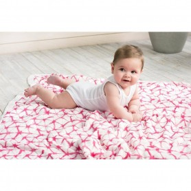Aden+Anais - Silky Soft Dream Blanket Berry Shibori