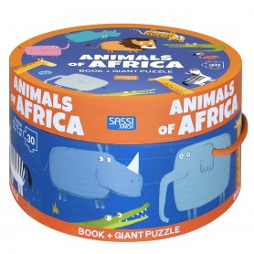Sassi Junior  - Puzzle & Book Animals of Africa