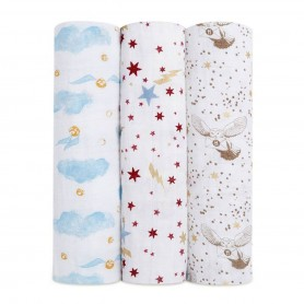 Aden+Anais - Classic 3-Pack Swaddles-Harry Potter