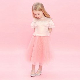 Baby Doll - Lace top with tulle skirt