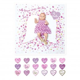 Lulujo - Baby's First Year Blanket & Card Set