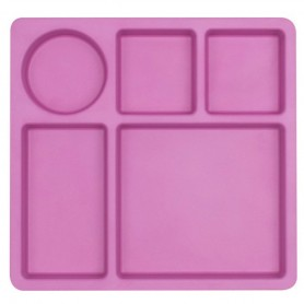 Bobo&Boo - Divided Plate-FLAMINGO PINK