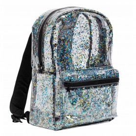 A Little Lovely - Backpack Glitter Transparent Black