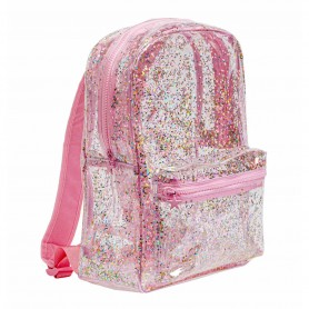A Little Lovely - Backpack Glitter  transparent pink