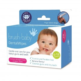Brush Baby - Dental Wipes Pack-28 Pieces