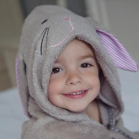 Cuddledry - Bunny Hooded Bath Towel (1-3 Y)