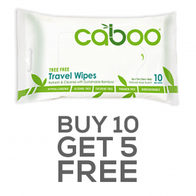 Caboo - Bamboo Travel Wipes Offer
