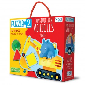 Sassi Junior  - Puzzle 2 Construction Vehicles Shapes