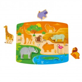 Hape - Wild Animal Puzzle & Play