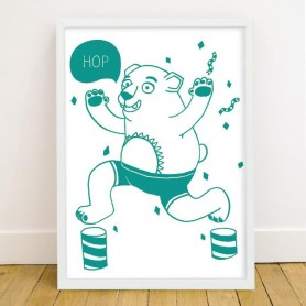 OMY - Glow in the Dark Poster Grizzly