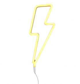 Neon Light Lightning Bolt Yellow