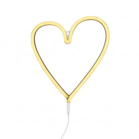 A Little Lovely - Neon Light Heart Yellow