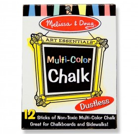 Melissa & Doug - Multi Colored Chalk 12 pc